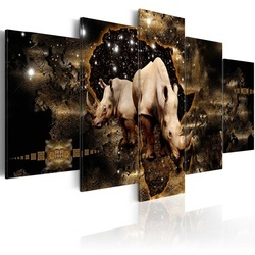 Tablou - Golden Rhino