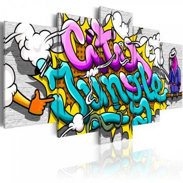 Tablou - Graffiti: city jungle