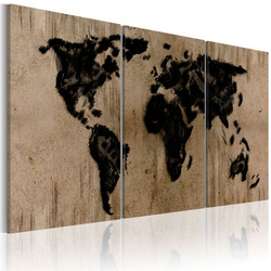 Tablou - Inky map of the World