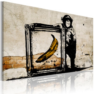 Tablou - Inspired by Banksy - sepia