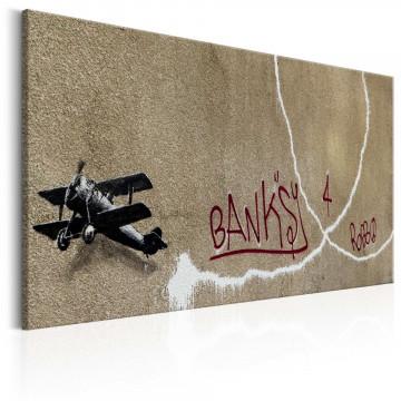 Tablou - Love Plane by Banksy