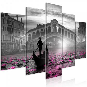 Tablou - Magic Venice (5 Parts) Wide Grey