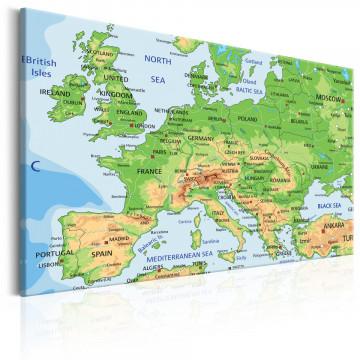 Tablou - Map of Europe