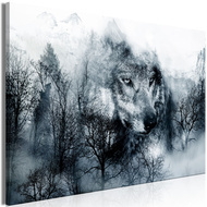 Tablou - Mountain Predator (1 Part) Wide Black and White