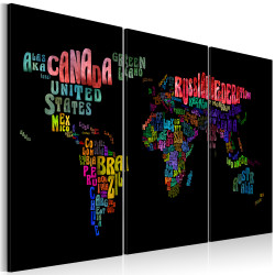 Tablou - Names of countries - triptych