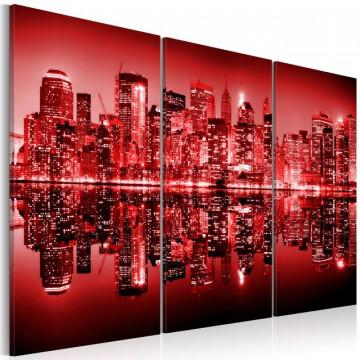 Tablou - New York- Big Apple in vivid red