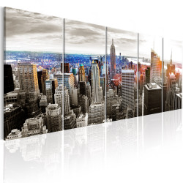 Tablou - New York: Grey Tower Blocks