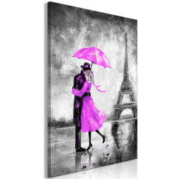 Tablou - Paris Fog (1 Part) Vertical Pink