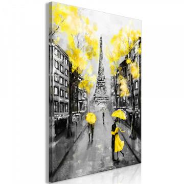 Tablou - Paris Rendez-Vous (1 Part) Vertical Yellow