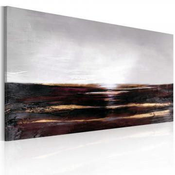 Tablou pictat manual - Black ocean