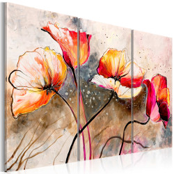 Tablou pictat manual - Poppies lashed by the wind