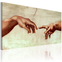 Tablou pictat manual - The creation of Adam: fragment of painting