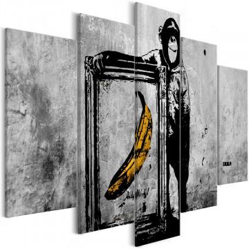 Tablou - Proud Monkey (5 Parts) Wide