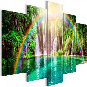Tablou - Rainbow Time (5 Parts) Wide