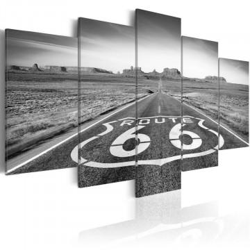 Tablou - Route 66 - black and white