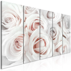 Tablou - Satin Rose (5 Parts) Narrow Pink