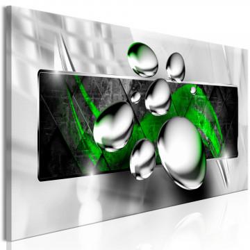 Tablou - Shiny Stones (1 Part) Narrow Green