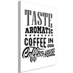 Tablou - Taste Aromatic Coffee in Our Coffee House (1 Part) Vertical