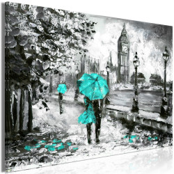 Tablou - Walk in London (1 Part) Wide Turquoise