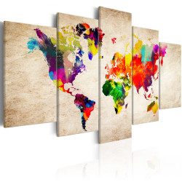 Tablou - World Map: Abstract Fantasy