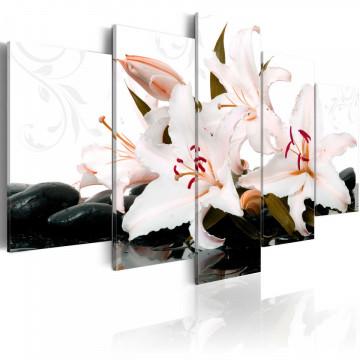 Tablou - Zen stones and lilies