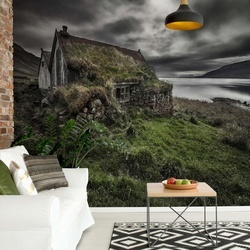 Turf And Stones Photo Wallpaper Mural
