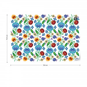 Vintage Floral Pattern Photo Wallpaper Wall Mural