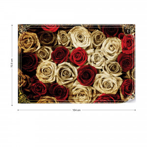 Vintage Red Roses Sepia Photo Wallpaper Wall Mural