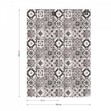Vintage Tiles Pattern Photo Wallpaper Wall Mural