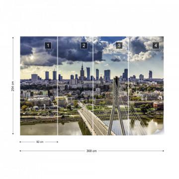 Warsaw City Skyline Photo Wallpaper Wall Mural