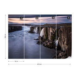 Waterfalls Photo Wallpaper Mural