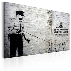 Tablou - Graffiti Area (Police and a Dog) by Banksy
