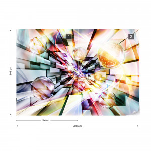 3D Abstract Design Multicoloured Photo Wallpaper Wall Mural