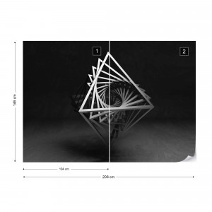 3D Black And White Object Photo Wallpaper Wall Mural