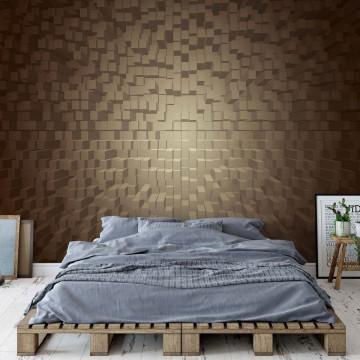 3D Brown Modern Pixel Design Photo Wallpaper Wall Mural
