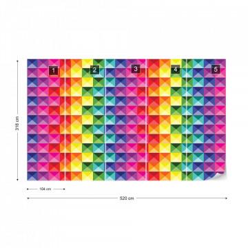 3D Colourful Design Photo Wallpaper Wall Mural