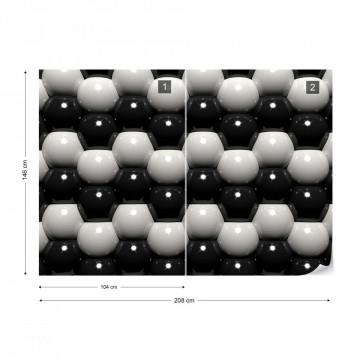 3D Grey And Black Ball Pattern Photo Wallpaper Wall Mural