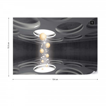 3D Modern Abstract Design Spheres Photo Wallpaper Wall Mural