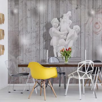 3D Sculpture Roses Photo Wallpaper Wall Mural