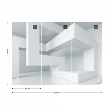 3D Structure Modern Photo Wallpaper Wall Mural