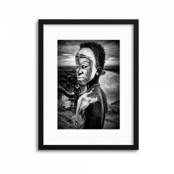A Boy of the Karo Tribe, Omo Valley Ethiopia by Joxe Inazio Kuesta