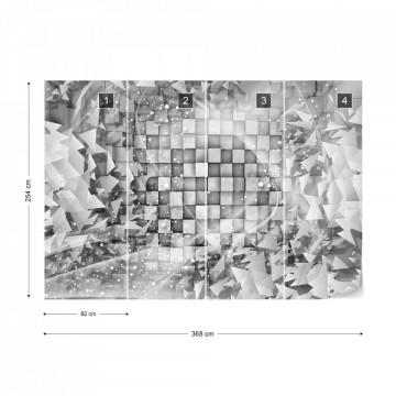 Abstract 3D Design Grey Photo Wallpaper Wall Mural