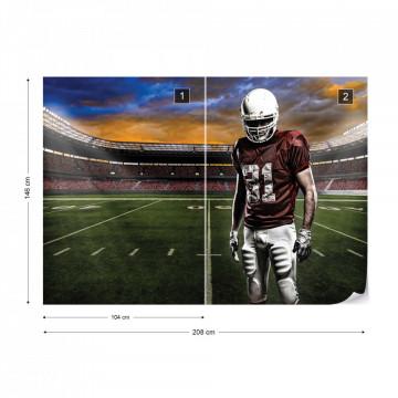 American Football Player Stadium Photo Wallpaper Wall Mural