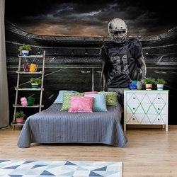 American Football Player Stadium Photo Wallpaper Wall Mural
