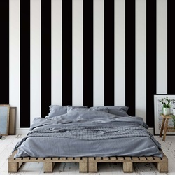 Black And White Stripes Photo Wallpaper Wall Mural