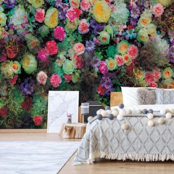 Bright Flowers Photo Wallpaper Wall Mural