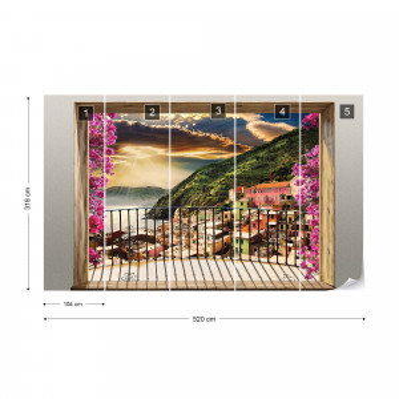Coastal Paradise Balcony View Photo Wallpaper Wall Mural