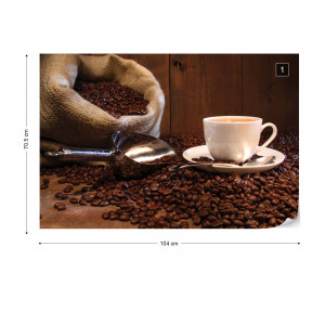Coffee Cafe Photo Wallpaper Wall Mural