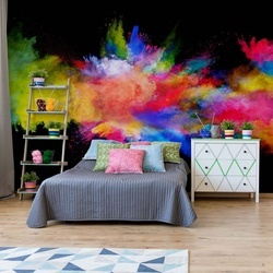 Colour Paint Explosion Photo Wallpaper Wall Mural