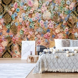 Colourful Flowers Photo Wallpaper Wall Mural